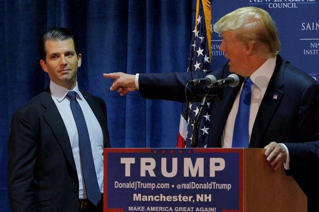 Donald Trump y su hijo