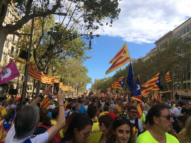 Manifestació de la Diada 2017 a Barcelona