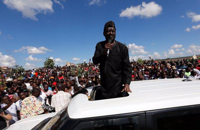 Raila Odinga, líder opositor keniano