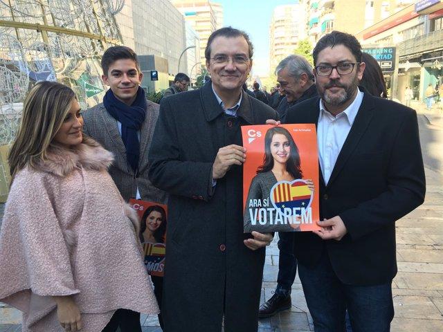 Miguel Garaulet y Miguel Sánchez apoyando candidatura de Inés Arrimadas