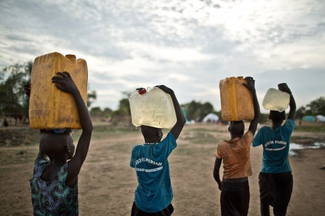 Camp de refugiats als Sudán del Sud