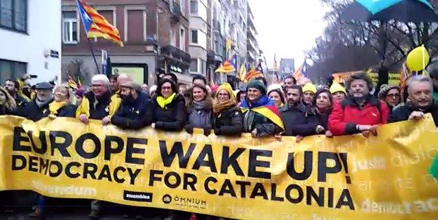 Manifestació independentista a Brussel·les