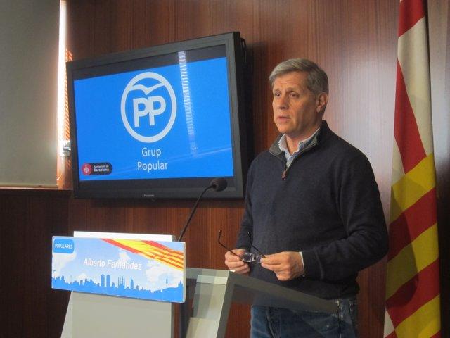 El líder del PP a Barcelona, Alberto Fernández
