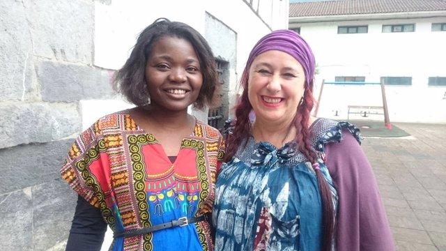 Estrella Ndong e Idoia Sánchez.
