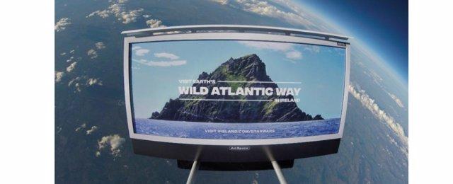 Ruta costera del Atlántico en el planeta Tierra