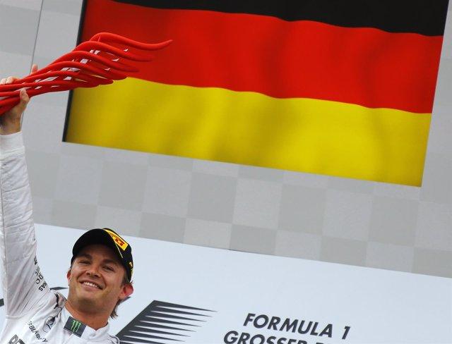Nico Rosberg en el Gran Premio de Alemania