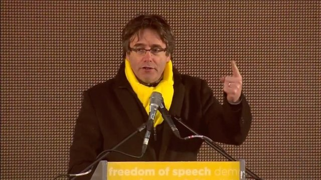 Puigdemont habla tras la manifestación en Bruselas