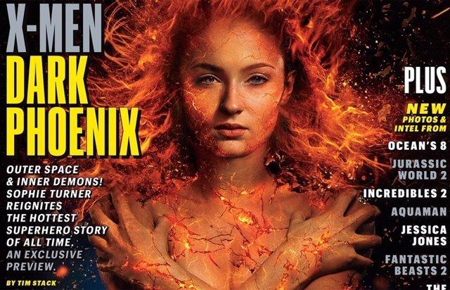 Sophie Turner en la portada de EW en X-Men: Dark Phoenix