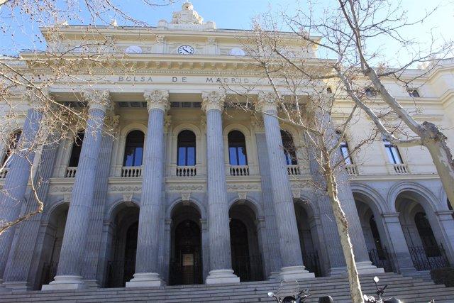 Fachada de la bolsa de Madrid, cotización, mercados, Ibex, cotizadas