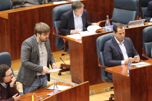 Marco Candela en la Asamblea de Madrid