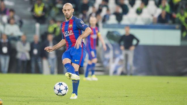 El jugador del FC Barcelona Javier Mascherano