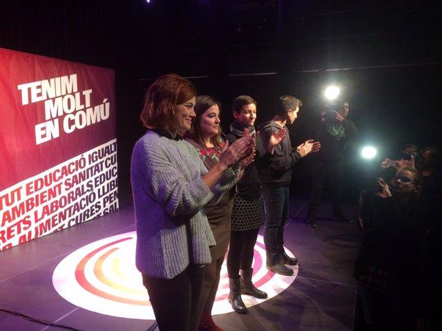 Elisenda Alamany, Marc Parés, Anna Querol (CatECP), Ska Keller