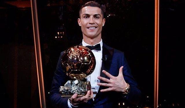 Cristiano Ronaldo tras conquistar su quinto Balón de Oro