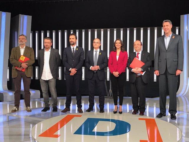 Debate electoral de las elecciones catalanas de TVE y Ràdio 4
