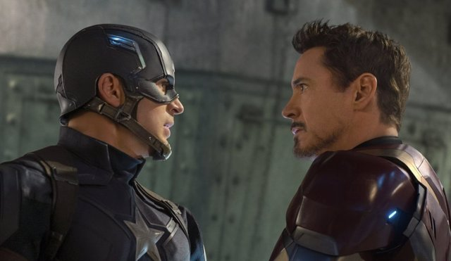 Iron Man y Capitán América en Civil War de Marvel