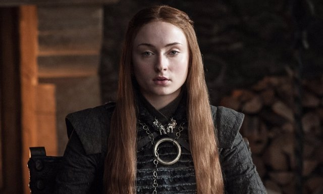 Sophie Turner (Sansa Stark) en Juego de tronos