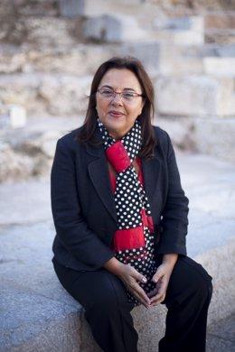 La diputada Elena Ruiz, en el Teatro Romano
