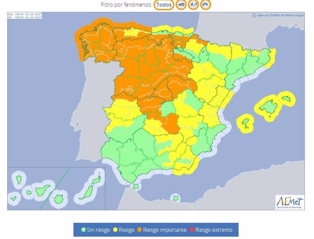 La borrasca 'Ana' dejará vientos 'muy fuertes' en Baleares este domingo