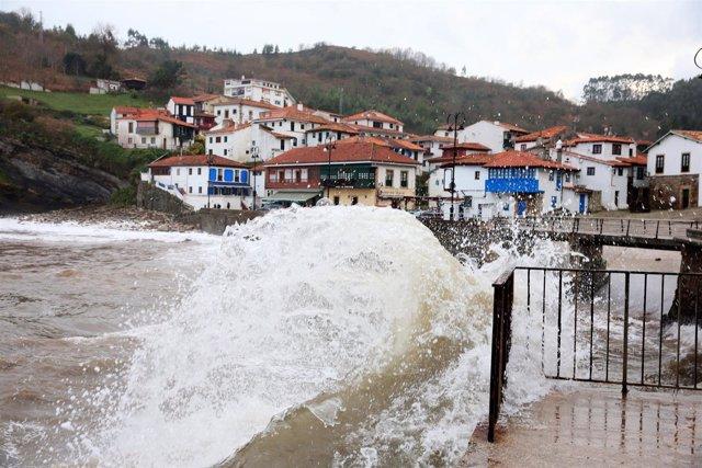 Temporal olas asturias