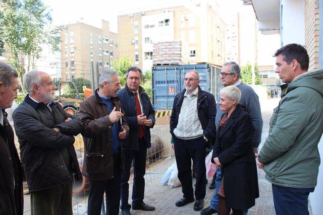 Obras en el barrio de San Carlos de Sevilla