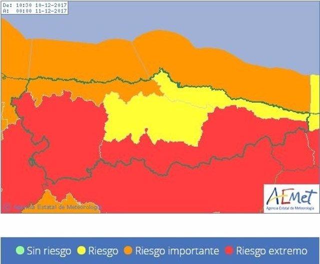 Riesgo AEMET Asturias