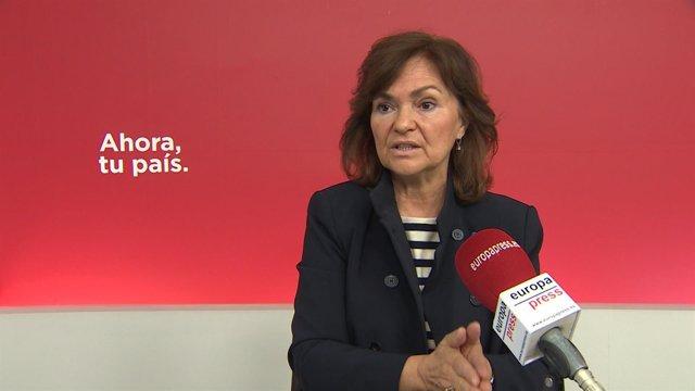 Entrevista de Europa Press a Carmen Calvo