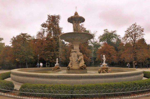 Fuente en el parque de El Retiro