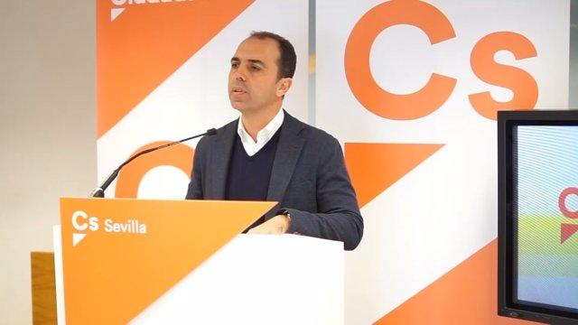 El portavoz de Ciudadanos en Sevilla, Javier Millán