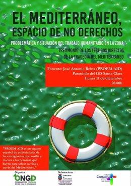 Cartel de la charla: El Mediterráneo, espacio de no derechos