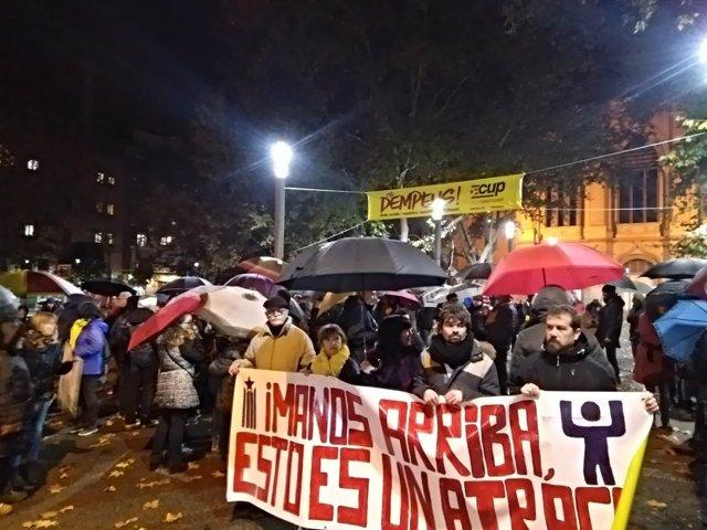 Concentración en Lleida contra el retorno de obras del Museu de Lleida a Sijena