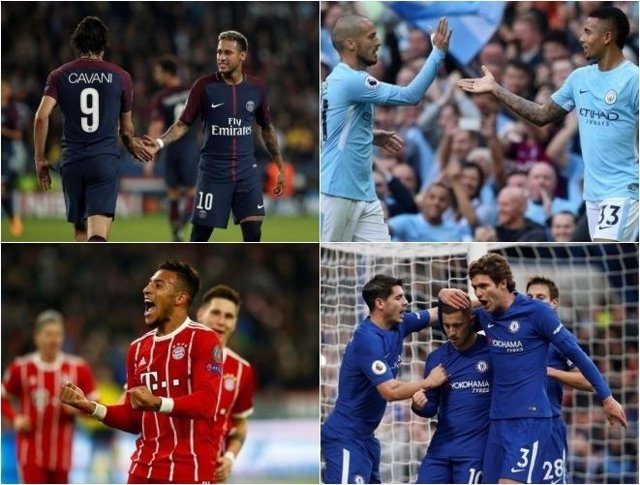 PSG y City, rivales a evitar para Madrid y Sevilla; Bayern y Chelsea