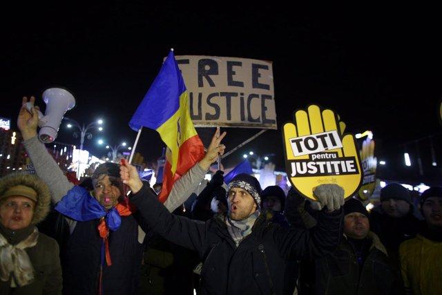 Manifiestación en Rumanía contra la politización de la Justicia