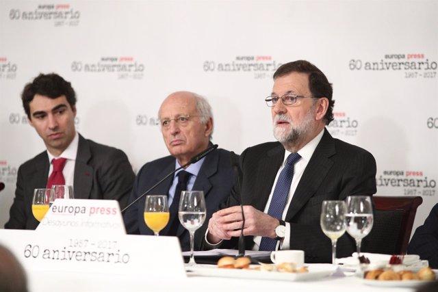 Rajoy en los Desayunos Informativos de Europa Press