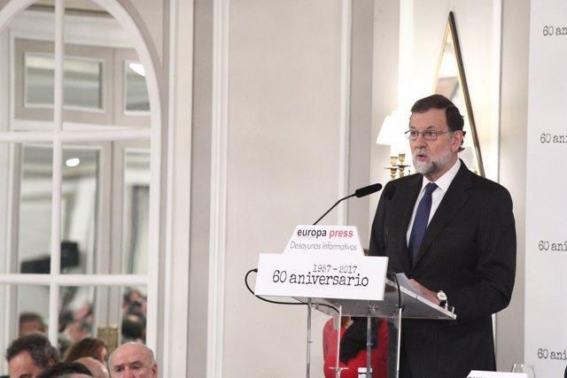 Rajoy en els Esmorzars Informatius d'Europa Press