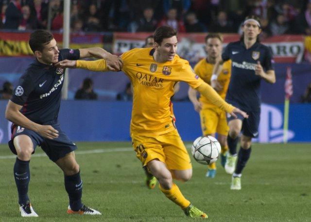 Messi i Lucas, Champions League, Vicente Calderón, Atlético-Barcelona
