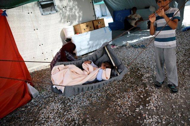 Refugiados en Moria, Lesbos