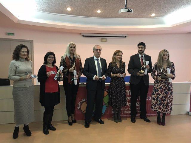 Marina Álvarez en la entrega de los premios Luis Portero de Periodismo