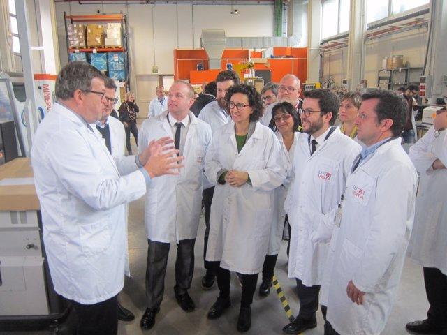 M.Rovira (ERC) visitando las instalaciones de Leitat Technological Center