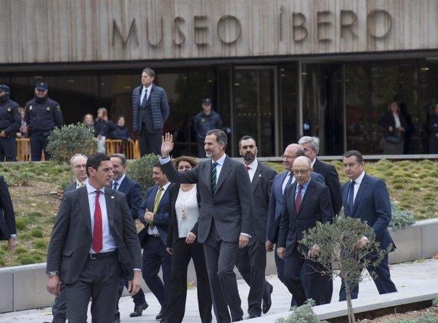 El rey Felipe VI, en la inauguración del Museo Íbero