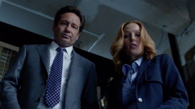 Mulder y Scully, juntos de nuevo en el set de 'Expediente X'