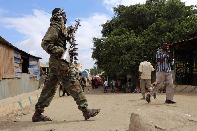 Un soldado somalí