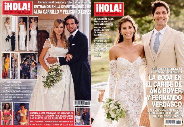 Boda Alba Carrillo VS boda Ana Boyer