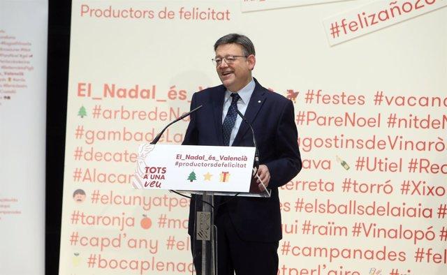 Ximo Puig presenta la campaña 'El Nadal és Valencià' 2017