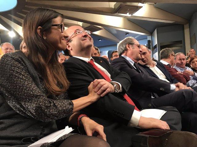 Núria Parlon, Miquel Iceta (PSC), Ángel Gabilondo (PSOE) y Raúl Moreno, PSC