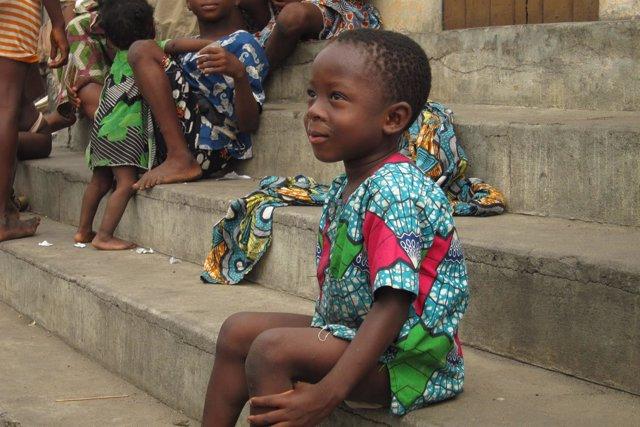 Niños en Dantokpa, Benin