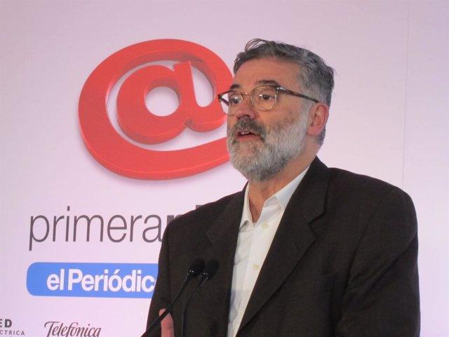 Carles Riera (CUP) en los desayunos Primera Plana