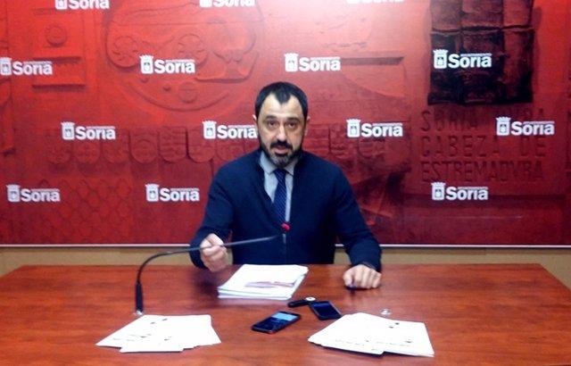 Soria; el concejal de Hacienda