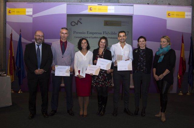 AON y Axel Springer España reciben los Premios Empresa Flexible 2017 por sus pol