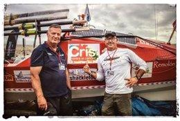 Un coruñés y un madrileño cruzan el Atlántico contra el cáncer