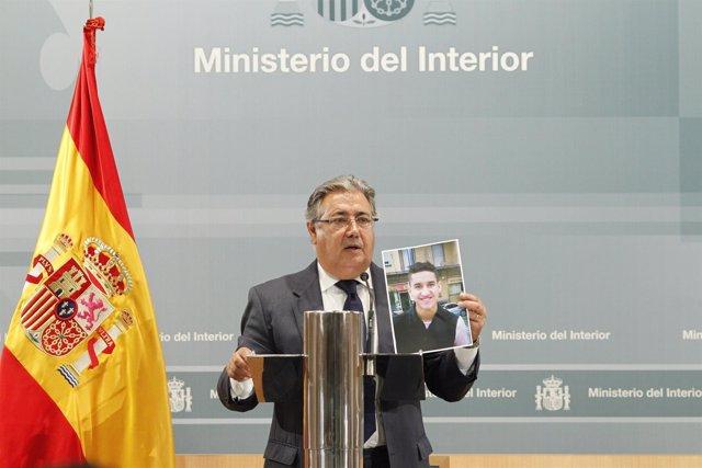 Zoido durante rueda de prensa tras la reunión del pacto de estado antiyihadista